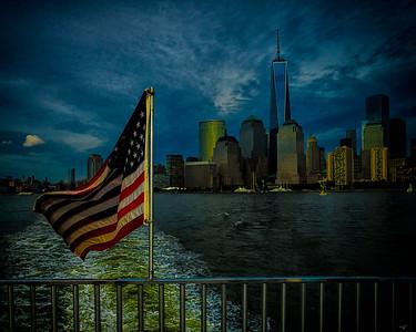 Ferry Flag & Freedom Tower
