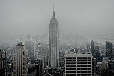 Snow Over Manhattan