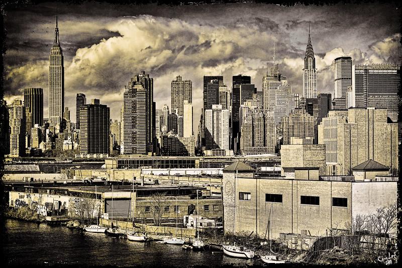 Manhattan From The Pulaski Bridge