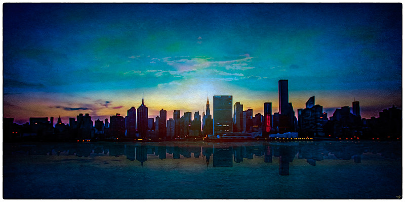 """East Side """"Paintography"""" The View From Gantry Park, LIC"""