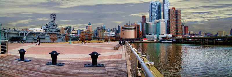 A Midtown Pier Panorama with The Intrepid