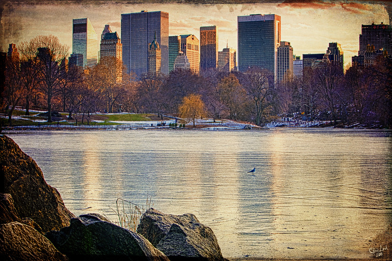Central Park South Across The Ice