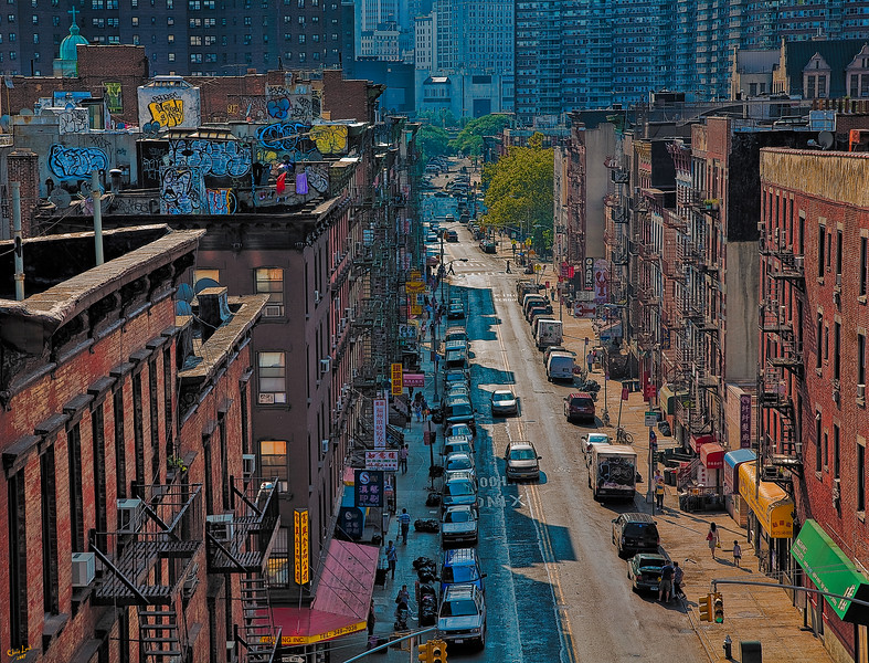 Chinatown From The Manhattan Bridge