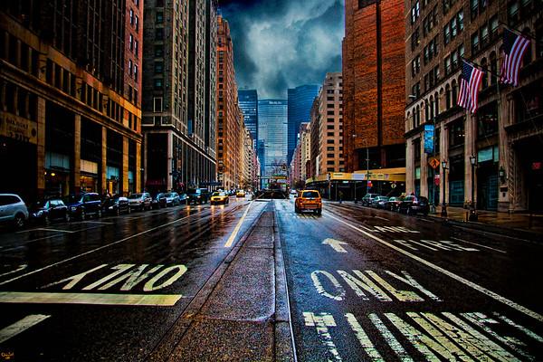 Rain on Park Avenue