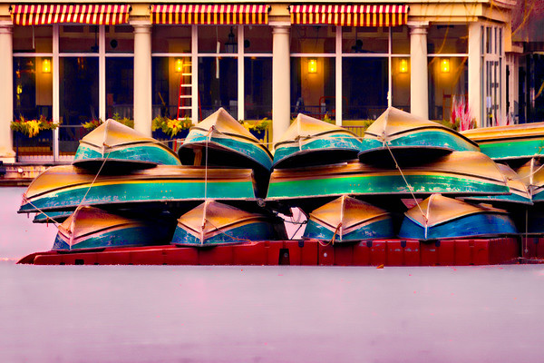 Boats Stacked  For the Winter Season