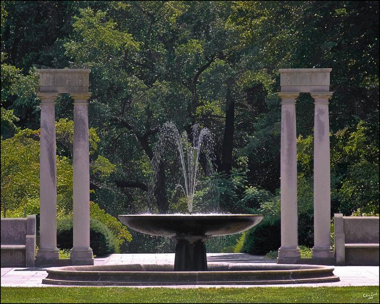 The Fountain At Brooklyn Botanical Garden