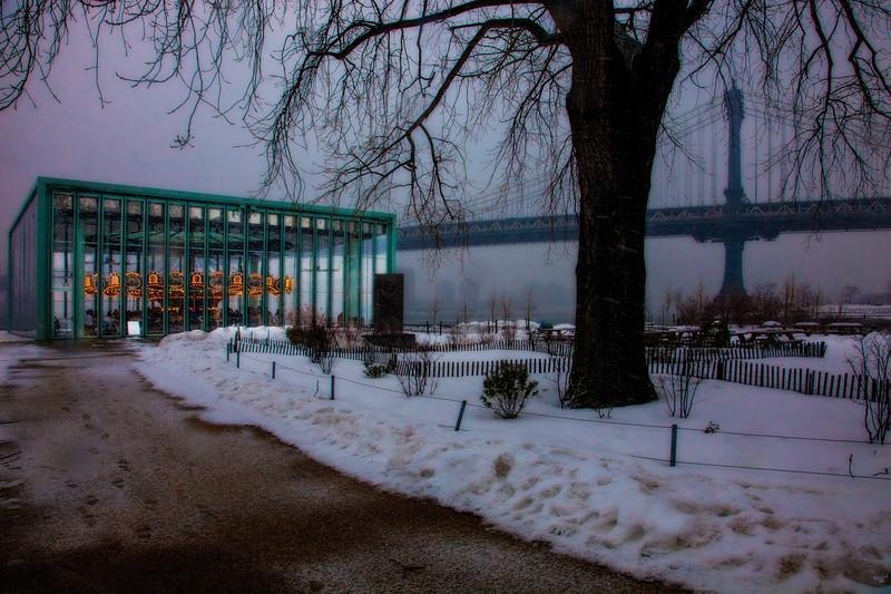 Brooklyn Bridge Park, The Carousel In Winter