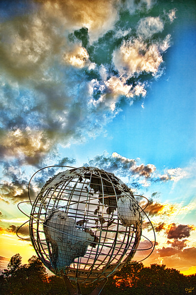 Evening at the Unisphere, Flushing Meadows Park