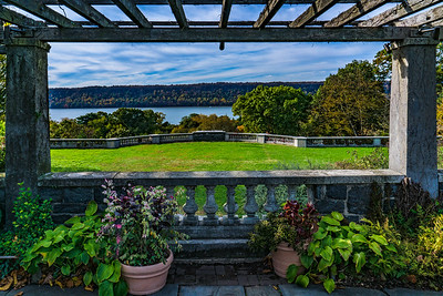 A Terrace With A View Of The Hudson