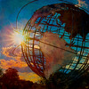 Unisphere Sun Flare, Flushing Meadows Park