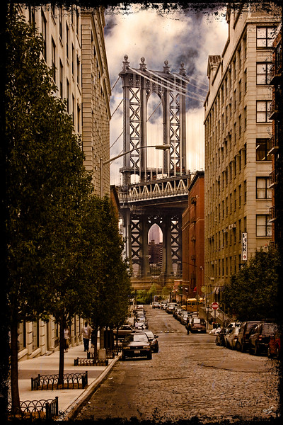 View Of The Manhattan Bridge From DUMBO
