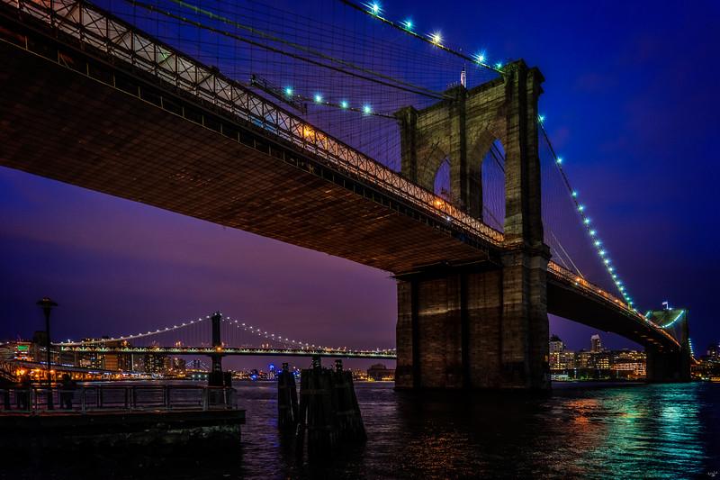 Twilight At The Brooklyn Bridge