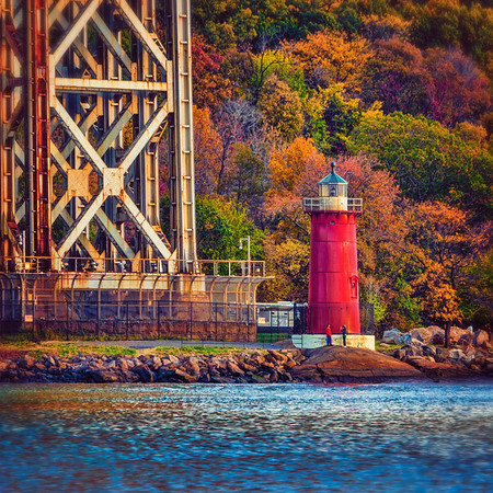 The Little Red Lighthouse in Fall