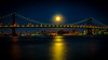 Harvest Moon Over the Manhattan Bridge