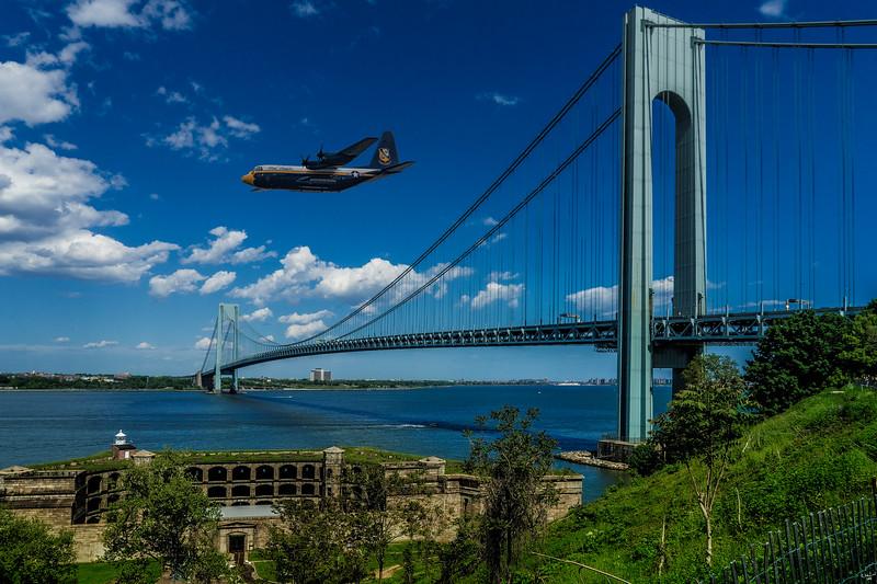 Fat Albert Flies Over The Verrazano Bridge