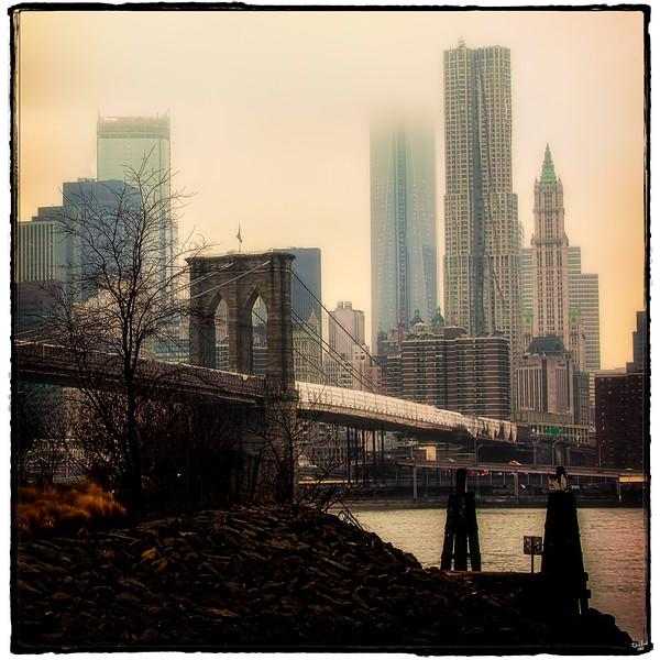 Moody Manhattan & The Brooklyn Bridge