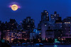 Supermoon Over The Village, Manhattan