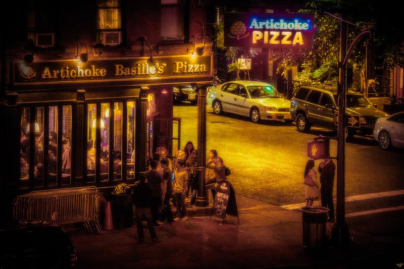 Artichoke Pizza, At Night On 10th Avenue