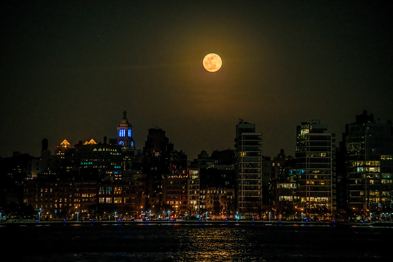 Moonrise Over The West Village