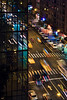 East Side Reflection, Night<br /> 47th Street & 2nd Avenue from a 16th Floor Terrace