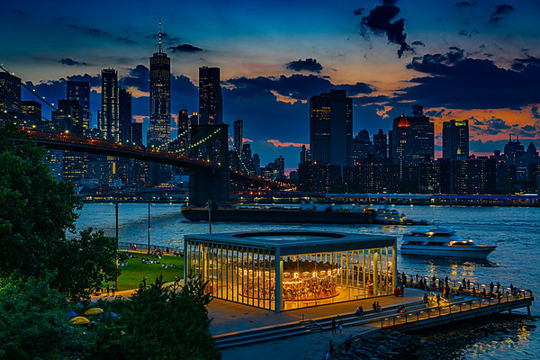 Jane's Carousel & Lower Manhattan