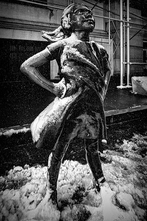 Fearless Girl In Snow