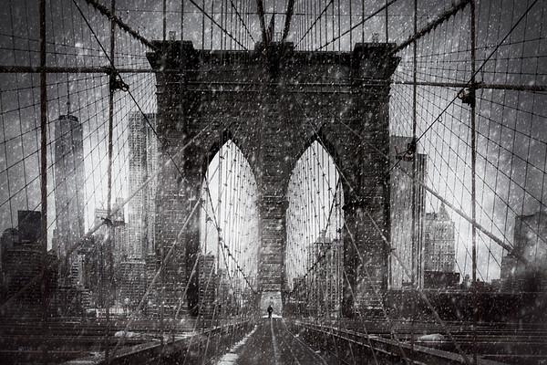 Crossing the Bridge In Winter