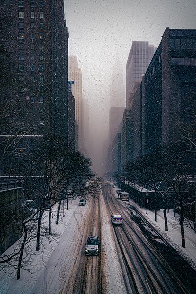 Snow Storm On 42nd Street