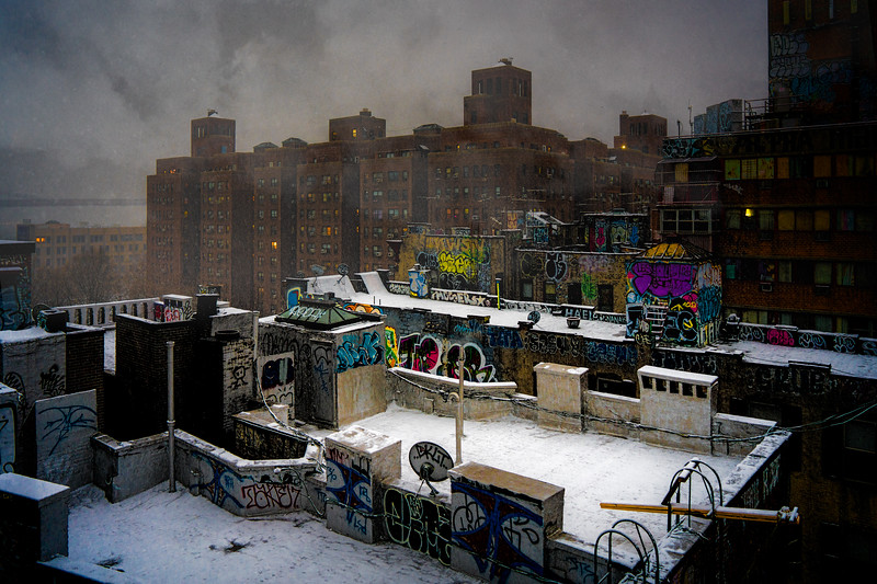 Chinatown Rooftops in Winter