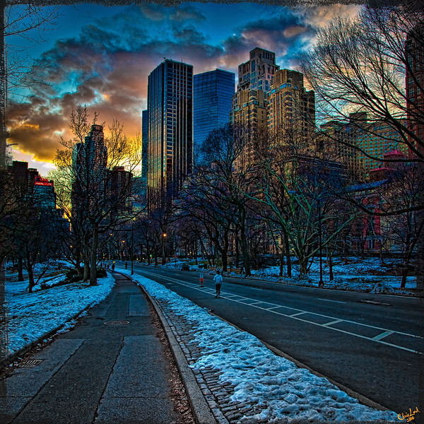 The Time Warner Center and Trump Tower from Central Park