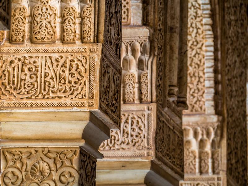 Islamic Pillars, Alhambra, Granada