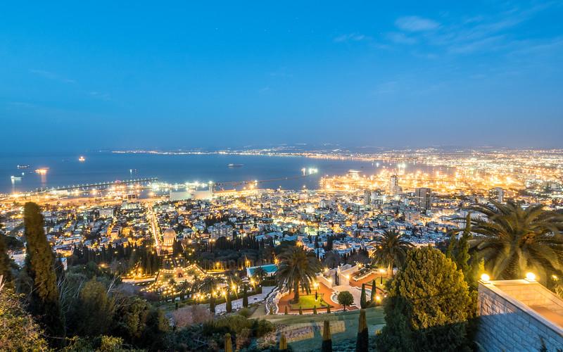 Haifa Night Panorama, Israel