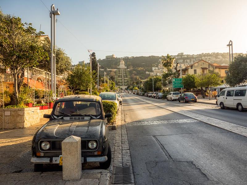 On the Street in the German Colony, Haifa, Israel