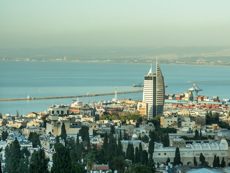 The Sail Tower and the Bay, Haifa, Israel