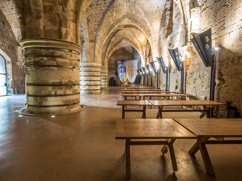 The Great Hall of the Ancient Citadel, Akko, Israel