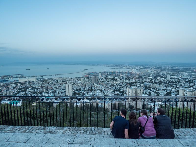 Observers at the Blue Hour, Haifa, Israel