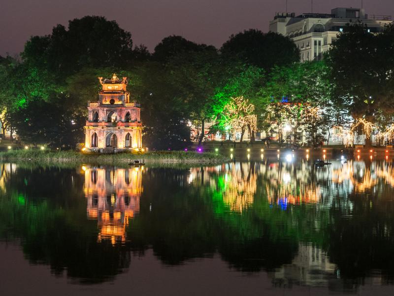 Turtle Tower at Night, Hanoi