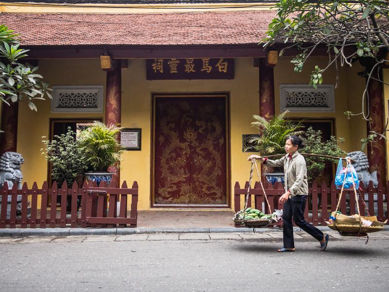 Outside Bach Ma Temple, Hanoi, Vietnam
