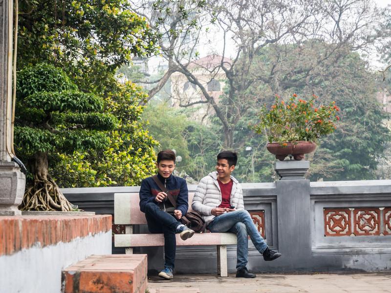 Friends at Ngoc Son Temple, Hanoi