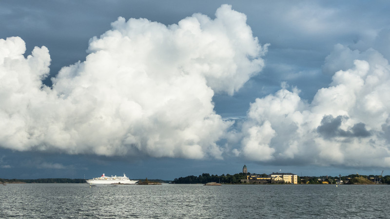 Grand Clouds Over Suomenlinna, Helsinki, Finland