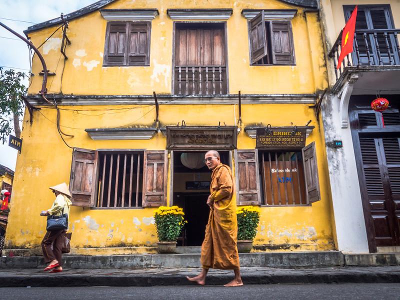 Passing Monk, Hoi An, Vietnam