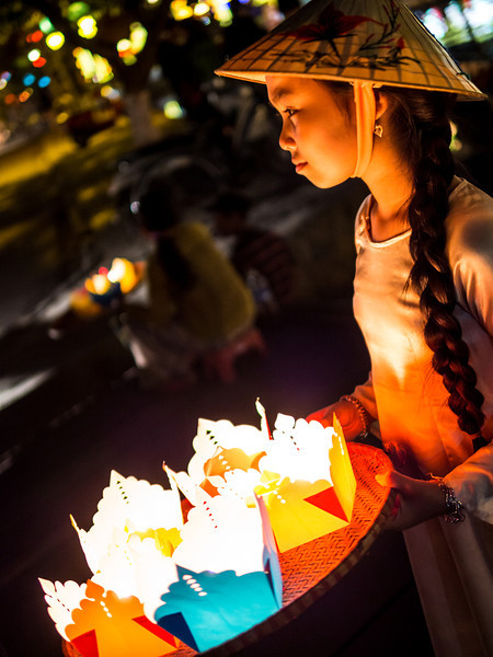 Girl with Lanterns, Hoi An