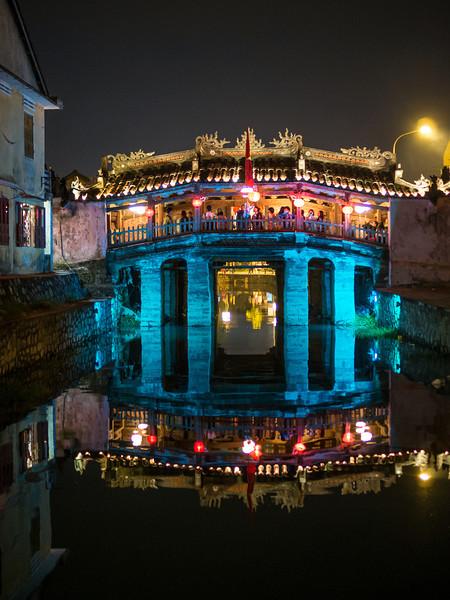 Japanese Covered Bridge at Night, Hoi An