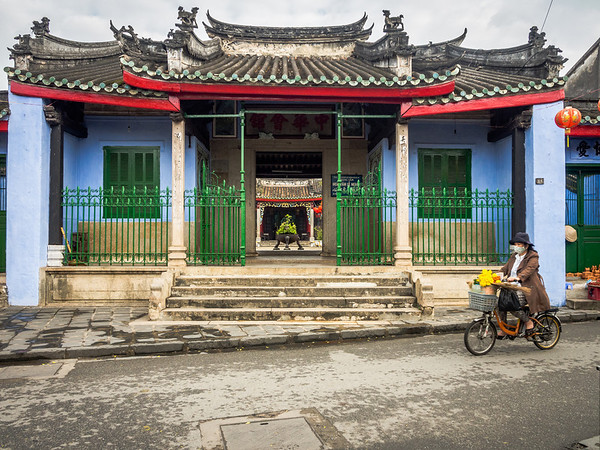 Outside the Blue Chinese Temple, Hoi An
