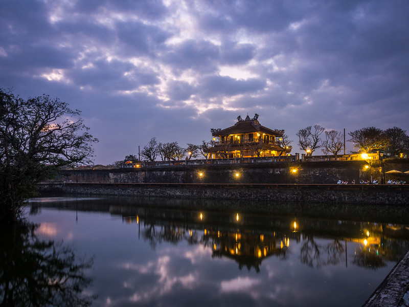 Night on the Palace, Hue, Vietnam