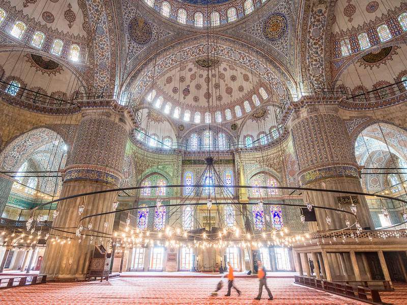 Keeping the Blue Mosque Clean, Istanbul, Turkey