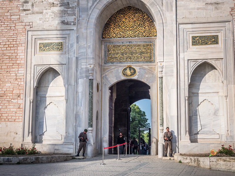 Guarding the Outer Palace Gate, Istanbul