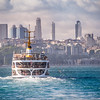 Ferry and the Distant Levent, Istanbul, Turkey