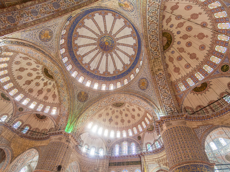 Blue Mosque Ceiling, Istanbul, Turkey