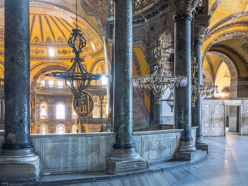 From the Upper Galleries, Hagia Sophia, Istanbul, Turkey